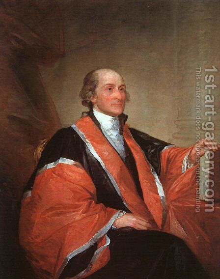 Chief Justice John Jay 1794 by Gilbert Stuart - Reproduction Oil Painting
