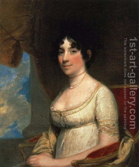 Dolley Madison (Mrs. James Madison)  1804 by Gilbert Stuart - Reproduction Oil Painting