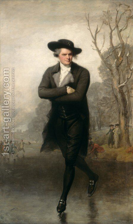 The Skater (Portrait of William Grant)  1782 by Gilbert Stuart - Reproduction Oil Painting