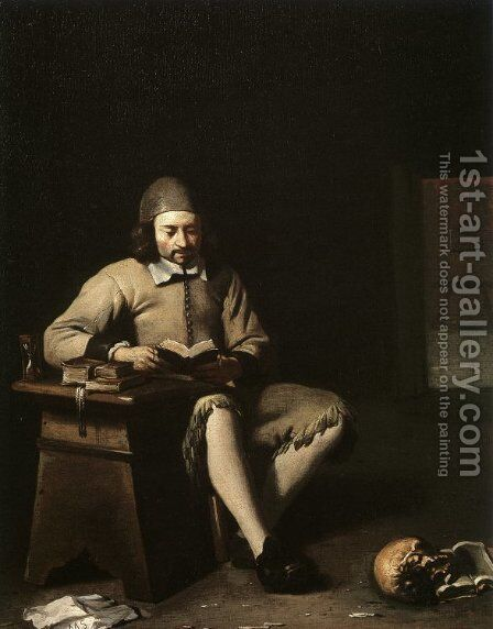 Penitent Reading in a Room by Michael Sweerts - Reproduction Oil Painting