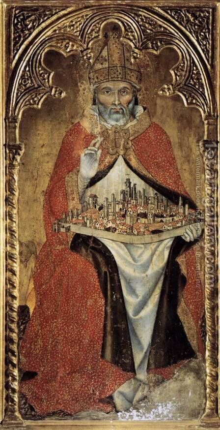 San Gimignano c. 1391 by Taddeo Di Bartolo - Reproduction Oil Painting