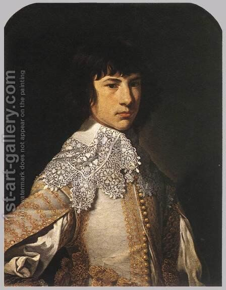 Portrait of a Young Man 1632 by Jean Tassel - Reproduction Oil Painting
