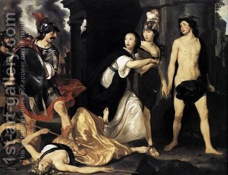 Mars Banishes 'Nering' 1651 by Abraham van den Tempel - Reproduction Oil Painting