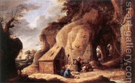The Temptation of St Anthony after 1640 by David The Younger Teniers - Reproduction Oil Painting