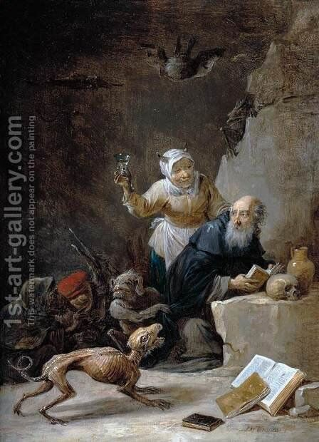 The Temptation of St Anthony (3) by David The Younger Teniers - Reproduction Oil Painting