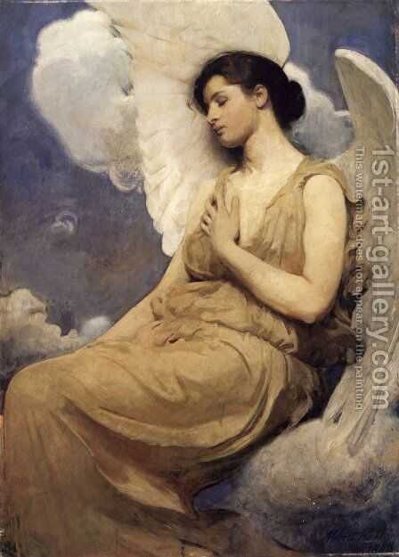 Winged Figure  1889 by Abbott Handerson Thayer - Reproduction Oil Painting