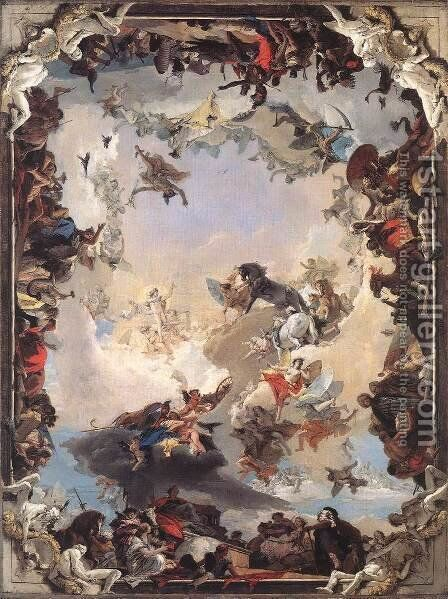 Allegory of the Planets and Continents 1752 by Giovanni Battista Tiepolo - Reproduction Oil Painting