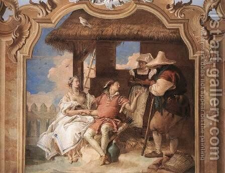 Angelica and Medoro with the Shepherds 1757 by Giovanni Battista Tiepolo - Reproduction Oil Painting