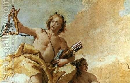 Apollo and Diana 1757 by Giovanni Battista Tiepolo - Reproduction Oil Painting
