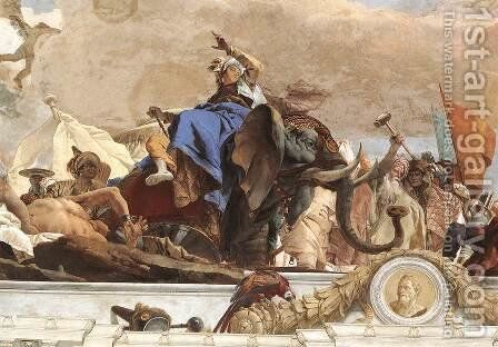 Apollo and the Continents (Asia, figure of Asia) 1752-53 by Giovanni Battista Tiepolo - Reproduction Oil Painting