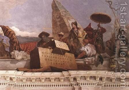 Apollo and the Continents (Asia, obelisk group) 1752-53 by Giovanni Battista Tiepolo - Reproduction Oil Painting
