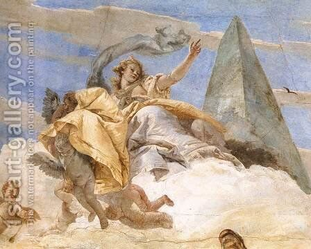 Bellerophon on Pegasus (detail-2) 1746-47 by Giovanni Battista Tiepolo - Reproduction Oil Painting