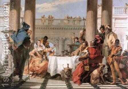 The Banquet of Cleopatra 1743-44 by Giovanni Battista Tiepolo - Reproduction Oil Painting