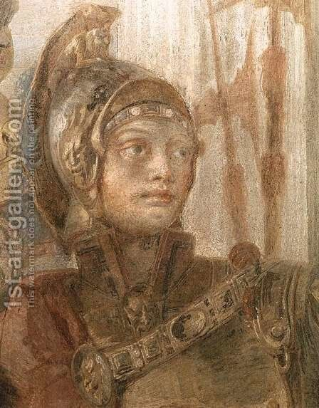 The Banquet of Cleopatra (detail-1) 1746-47 by Giovanni Battista Tiepolo - Reproduction Oil Painting