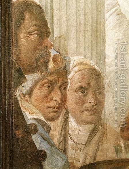 The Banquet of Cleopatra (detail-4) 1746-4 by Giovanni Battista Tiepolo - Reproduction Oil Painting