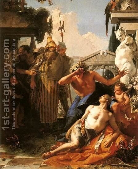The Death of Hyacinth 1752-53 by Giovanni Battista Tiepolo - Reproduction Oil Painting