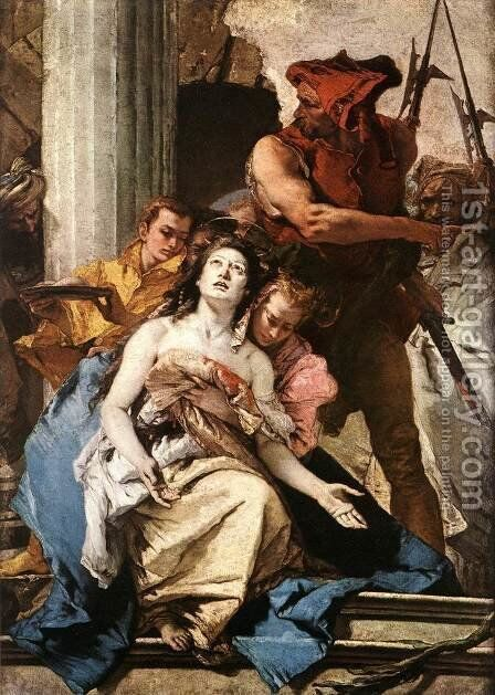 The Martyrdom of St Agatha c. 1756 by Giovanni Battista Tiepolo - Reproduction Oil Painting