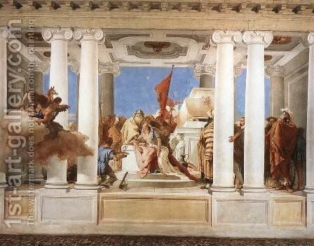 The Sacrifice of Iphigenia 1757 by Giovanni Battista Tiepolo - Reproduction Oil Painting