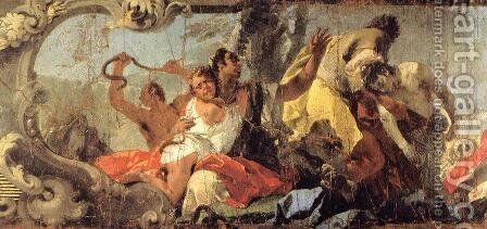 The Scourge of the Serpents (detail) 1732-35 by Giovanni Battista Tiepolo - Reproduction Oil Painting