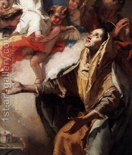The Vision of St Anne (detail) 1759 by Giovanni Battista Tiepolo - Reproduction Oil Painting