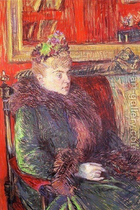 Portrait of Madame de Gortzikoff  1893 by Toulouse-Lautrec - Reproduction Oil Painting