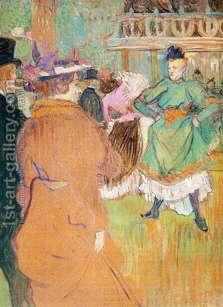 The Beginning of the Quadrille at the Moulin Rouge  1892 by Toulouse-Lautrec - Reproduction Oil Painting