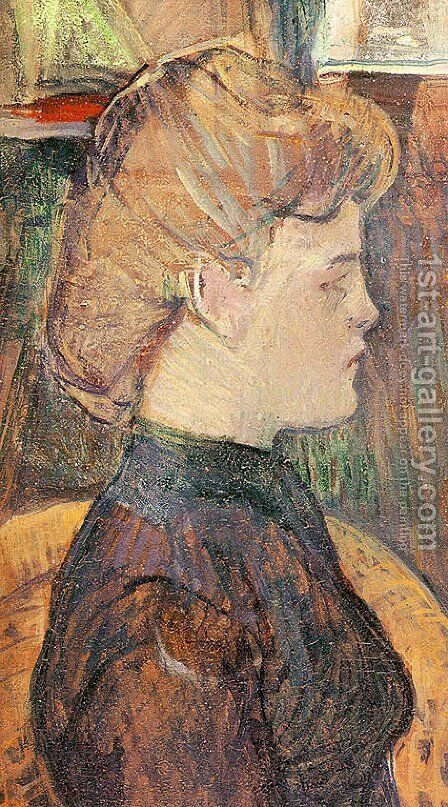 The Painter's Model Helene Vary in the Studio 1889 by Toulouse-Lautrec - Reproduction Oil Painting