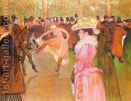 Training of the New Girls by Valentin at the Moulin Rouge 1889-90 by Toulouse-Lautrec - Reproduction Oil Painting
