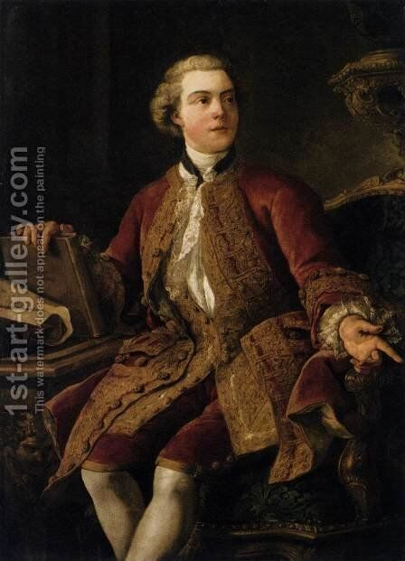 Portrait of the Marquis of Marigny 1750 by Jean François de Troy - Reproduction Oil Painting