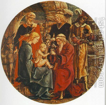 Adoration of the Magi (from the predella of the Roverella Polyptych) 1474 by Cosme Tura - Reproduction Oil Painting