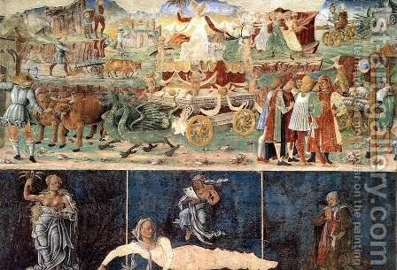 Allegory of August- Triumph of Ceres 1476-84 by Cosme Tura - Reproduction Oil Painting