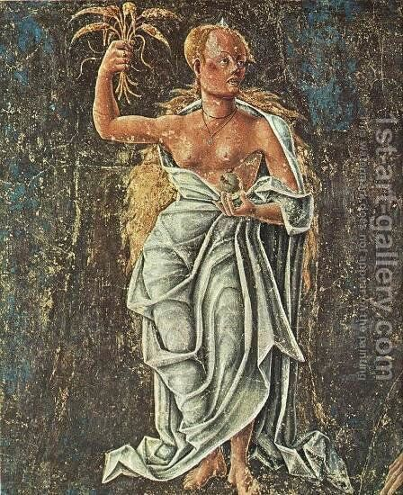 Allegory of August- Triumph of Ceres (detail-2)  1476-84 by Cosme Tura - Reproduction Oil Painting