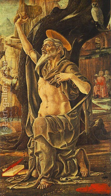 Saint Jerome 1474 by Cosme Tura - Reproduction Oil Painting