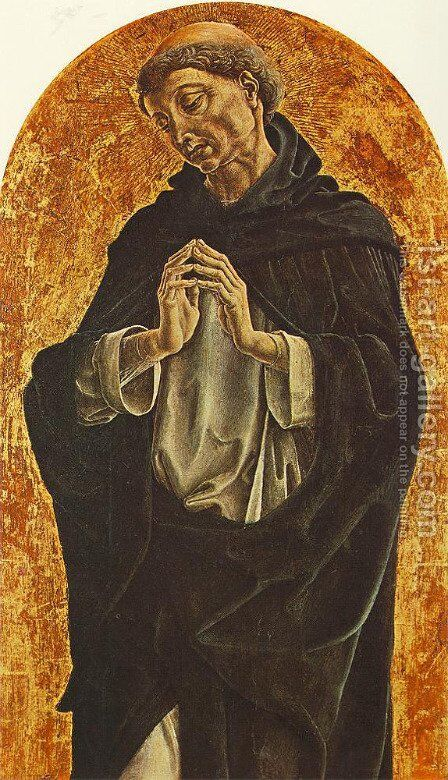 St Dominic 1475 by Cosme Tura - Reproduction Oil Painting