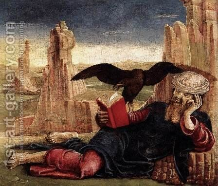 St John the Evangelist on Patmos c. 1470 by Cosme Tura - Reproduction Oil Painting