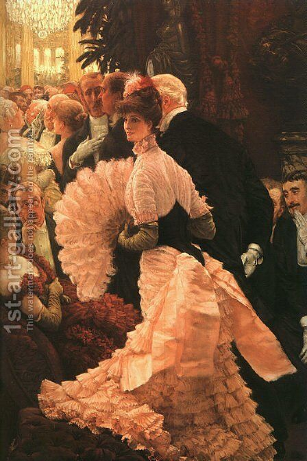 L'Ambitiuse (The Political Lady) 1883-85 by James Jacques Joseph Tissot - Reproduction Oil Painting