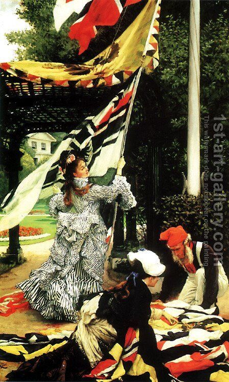 Still on Top 1874 by James Jacques Joseph Tissot - Reproduction Oil Painting