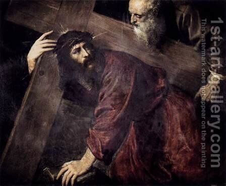 Christ Carrying the Cross c. 1565 by Tiziano Vecellio (Titian) - Reproduction Oil Painting
