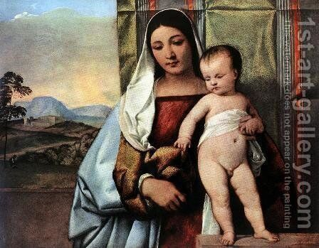 Gipsy Madonna c. 1510 by Tiziano Vecellio (Titian) - Reproduction Oil Painting