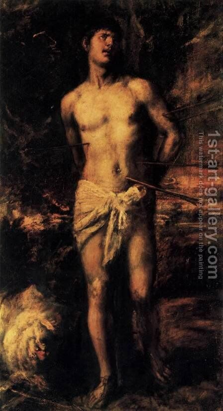Saint Sebastian 1570 by Tiziano Vecellio (Titian) - Reproduction Oil Painting