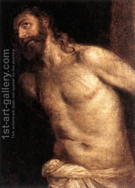 The Scourging of Christ c. 1560 by Tiziano Vecellio (Titian) - Reproduction Oil Painting