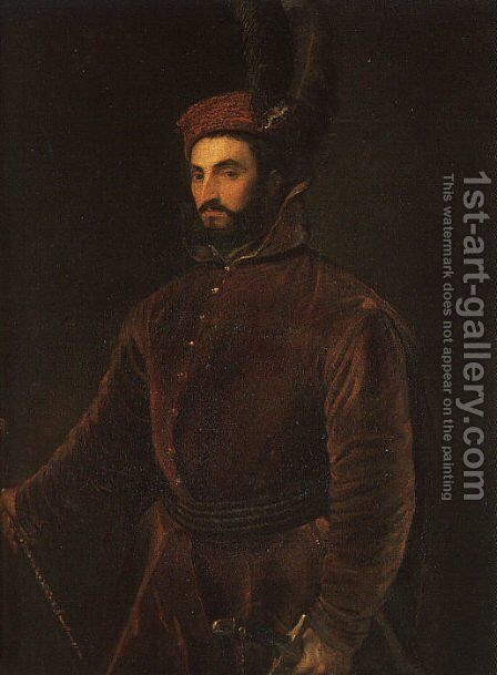 Portrait of Ippolito de Medici  1532-34 by Tiziano Vecellio (Titian) - Reproduction Oil Painting