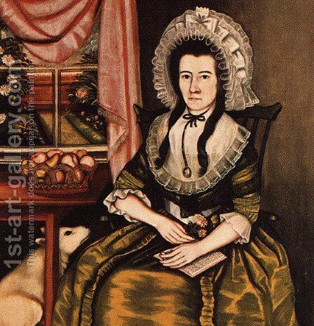 "Mrs. Hezekiah Beardsley (known as ""The Beardsley Limner"")  1788-90 by American Unknown Masters - Reproduction Oil Painting"