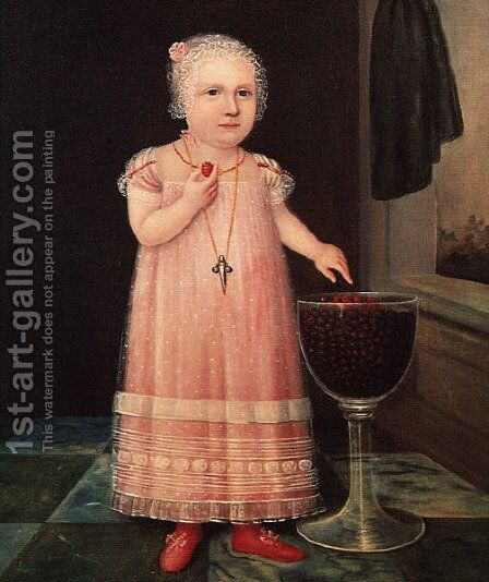 Emma van Name 1795 by American Unknown Masters - Reproduction Oil Painting