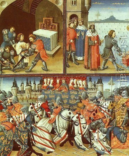 Scenes from the Life of Sir Galahad by British Unknown Master - Reproduction Oil Painting