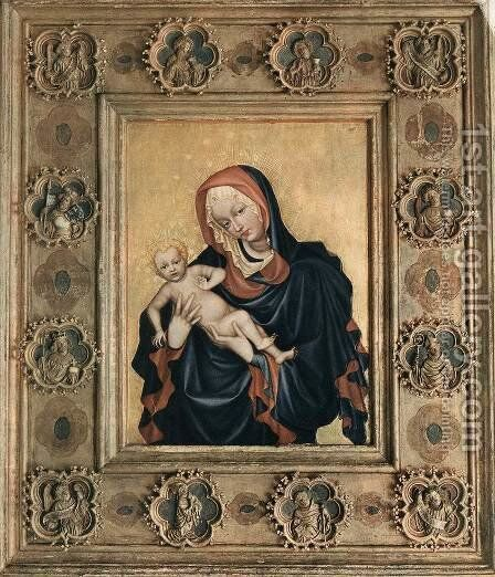 The Madonna of St Vitus Cathedral in Prague c. 1420 by Bohimian Unknown Masters - Reproduction Oil Painting