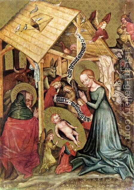 The Nativity c. 1430 by Bohimian Unknown Masters - Reproduction Oil Painting