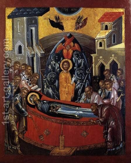 The Dormition of the Mother of God 1590s by Bulgarian Unknown Masters - Reproduction Oil Painting