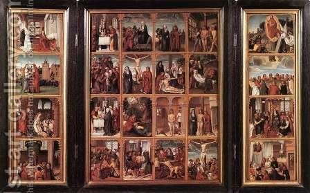 Triptych with Scenes from the Life of Christ 1500-05 by Flemish Unknown Masters - Reproduction Oil Painting