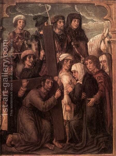 Triptych with Scenes from the Life of Christ (detail-2) 1500-05 by Flemish Unknown Masters - Reproduction Oil Painting